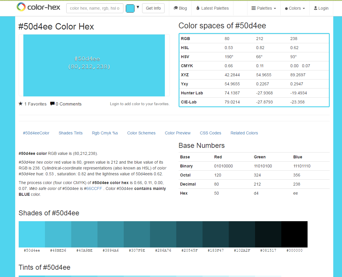 Каталог цвета (RGB|HEX)